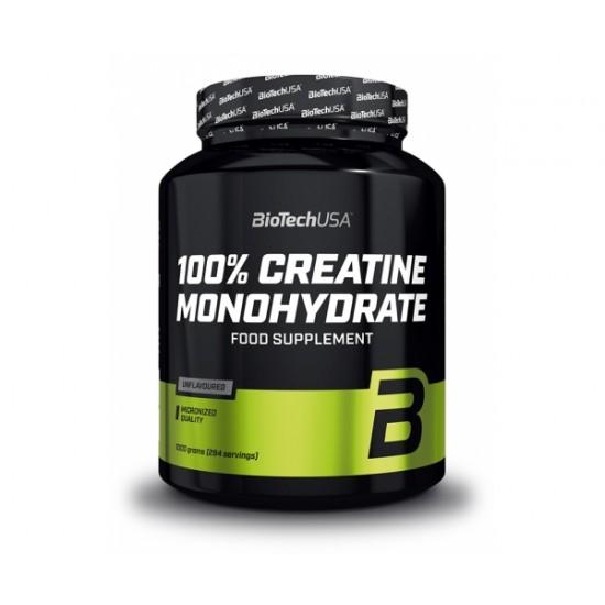 100% Creatine Monohydrate, 1000 g, Biotech
