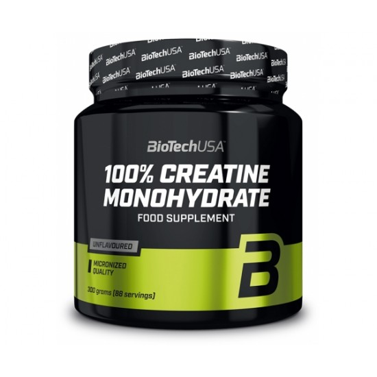 100% Creatine Monohydrate, 300 g, Biotech