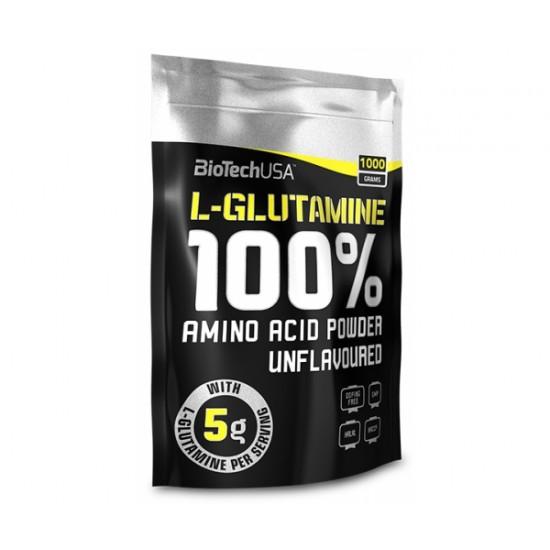 100% L-Glutamina, 1000 g, Biotech
