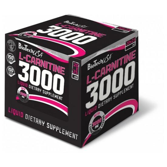 L-Carnitine 3000 mg, 20 fiole, Biotech