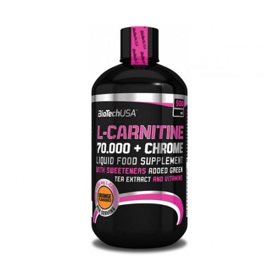 L-Carnitine 70000 + Chrome, 500 ml, Biotech