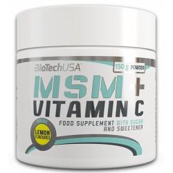 MSM + Vitamin C, 150 grame, Biotech