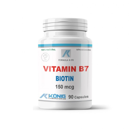Vitamina B7 Biotina, 90 caps, Konig Nutrition Laboratoriums