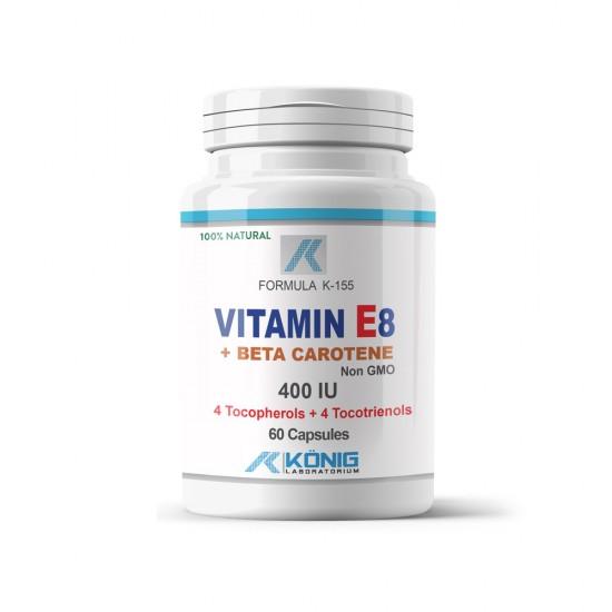 Vitamina E8 + Beta Caroten, 60 caps, Konig Nutrition Laboratiums