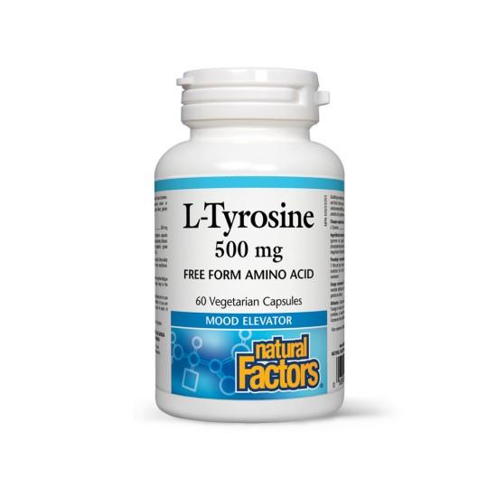 L-Tyrosine 500 mg, 60 caps, Natural Factors