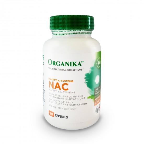 NAC (N-acetil-cisteina) 500 mg, 90 caps, Organika