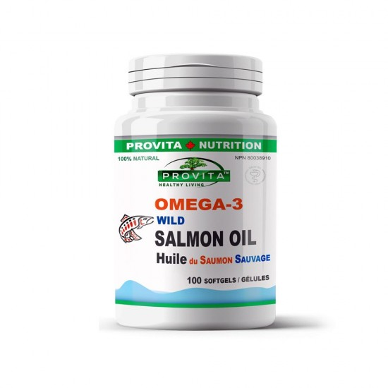 Omega 3 Ulei de somon salbatic de pacific 1000 mg, 100 caps, PROVITA NUTRITION
