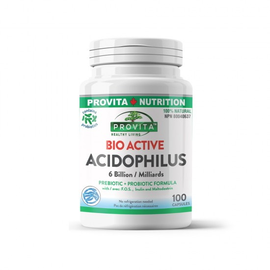 Bio-Active Acidophilus (Acidophilus bioactiv), 100 caps, PROVITA NUTRITION