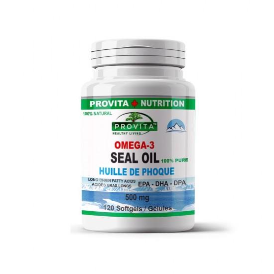 Omega 3 (Ulei de foca) 500 mg, 120 caps, PROVITA NUTRITION