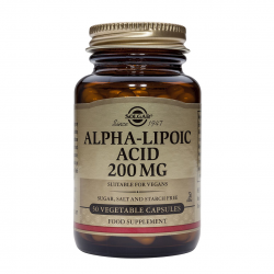 Alpha Lipoic Acid 200 mg, 50 caps, SOLGAR