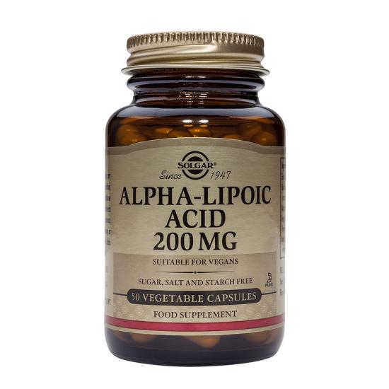 Alpha Lipoic Acid 200 mg, 50 caps, SOLGAR
