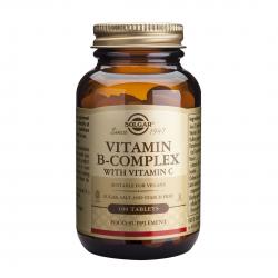 B-Complex cu Vitamina C, 100 tab, SOLGAR
