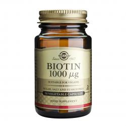 Biotin 1000 mcg, 50 caps, SOLGAR