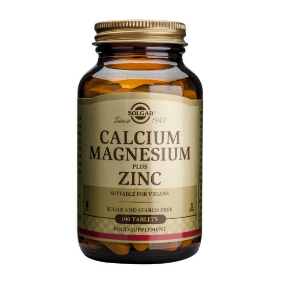 Calcium Magnesium Plus Zinc, 100 tablete, SOLGAR