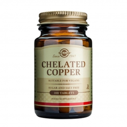 Chelated Copper 2,5 mg, 100 tab, SOLGAR