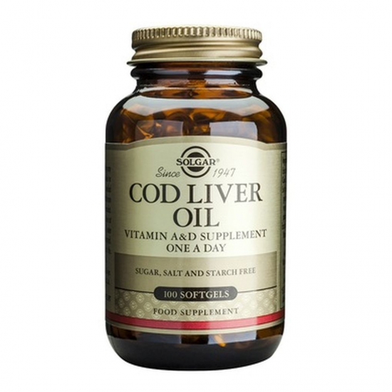 Cod Liver Oil, 100 caps, SOLGAR