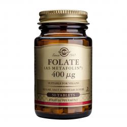 Folate (ca Metafolin) 400mcg, 50 tab, SOLGAR