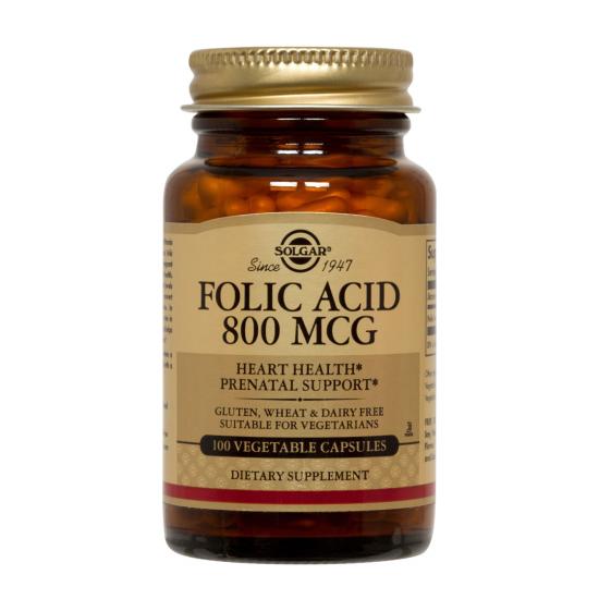 Folacin (Folic Acid) 800 mcg, 100 tablete, SOLGAR