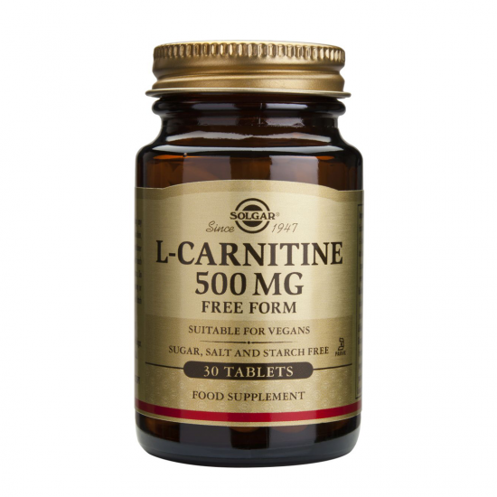 L-Carnitine 500 mg, 30 caps, SOLGAR