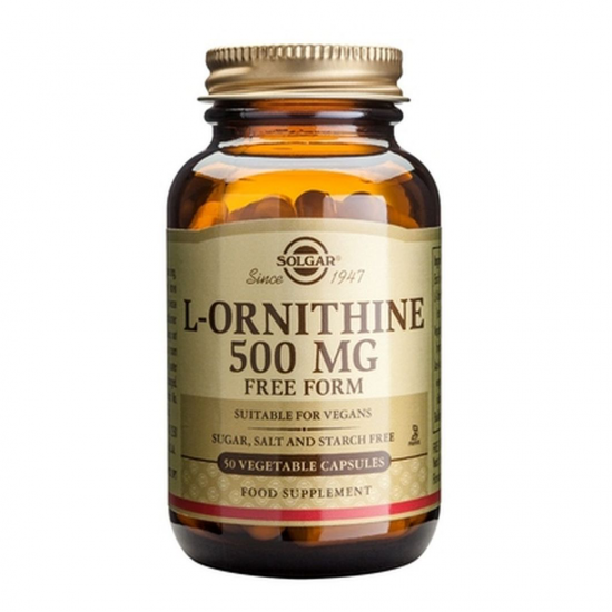 L-Ornithine 500 mg, 50 caps, SOLGAR