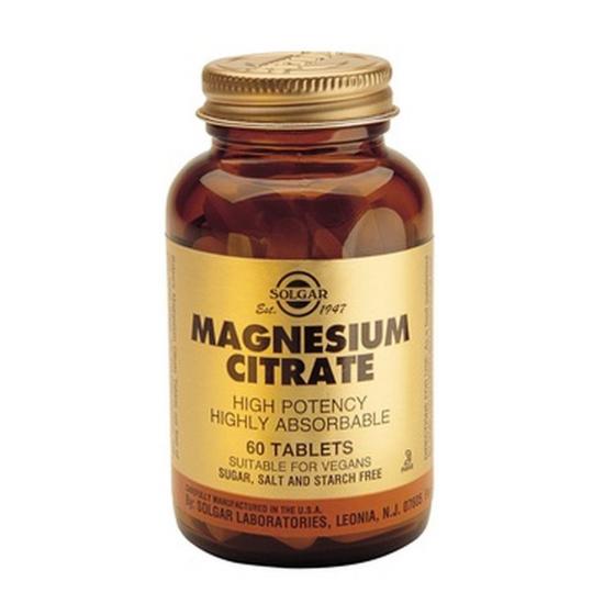 Citrate Magnesium 200 mg, 60 tab, SOLGAR