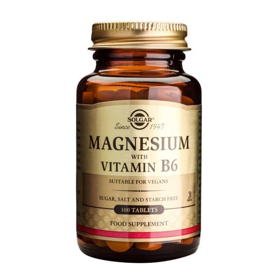 Magnesium+B6, 100 tab, SOLGAR