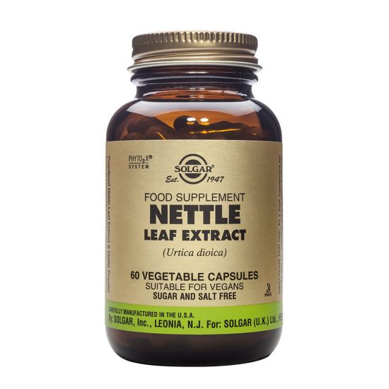 Nettle Leaf (Urzica) Extract, 60 caps, SOLGAR