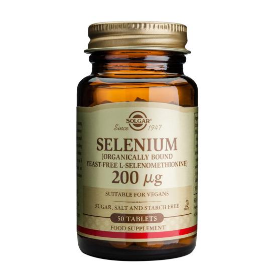 Selenium 200mcg, 50 tab, SOLGAR