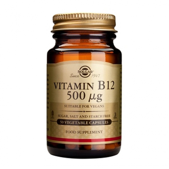 Vitamina B12 500 mcg, 50 caps (Cobalamina), SOLGAR