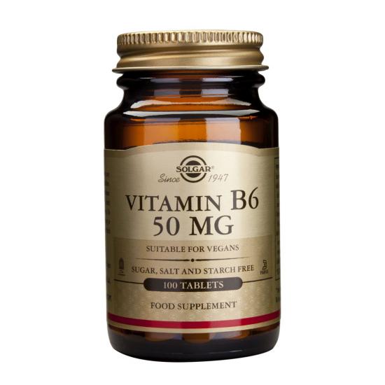 Vitamina B6 50 mg, 100 tab, SOLGAR