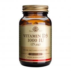Vitamina D3 1000iu, 100 tablete masticabile, SOLGAR