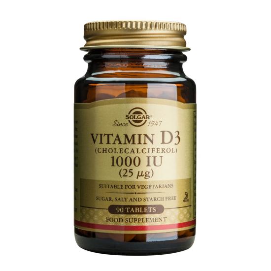 Vitamina D3 1000 iu, 90 tab, SOLGAR