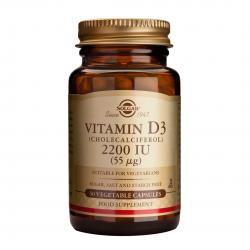 Vitamina D3 2200IU, 50 caps, SOLGAR