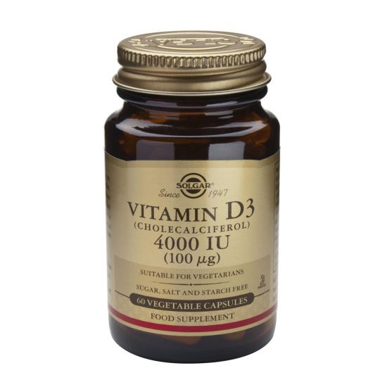 Vitamina D3 4000 iu, 60 caps, SOLGAR
