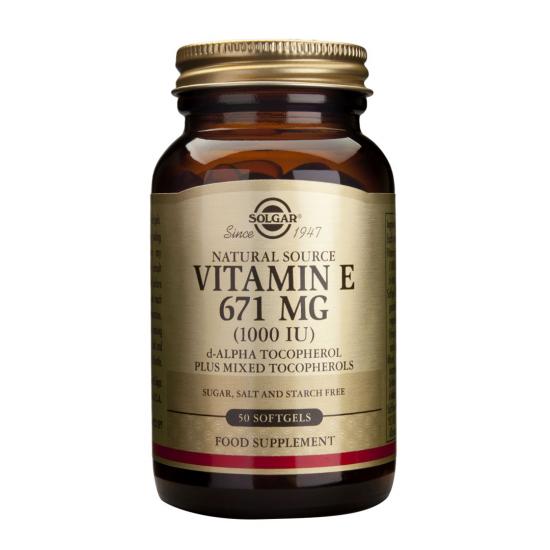 Vitamina E 671 mg (1000 UI), 50 caps, SOLGAR