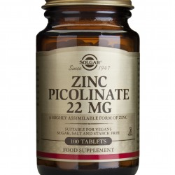Zinc Picolinate 22mg, 100 tablete, SOLGAR