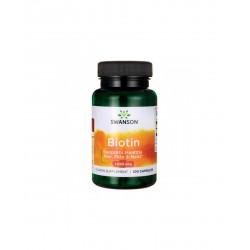 Biotin (Vitamina B7) 5 mg, 100 capsule
