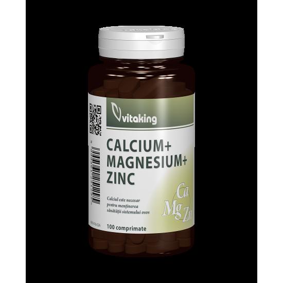 Calcium + Magnesium + Zinc, 100 caps, Vitaking