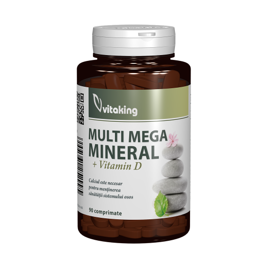 Multi Mega Mineral + Vitamina D, 90 tablete, Vitaking