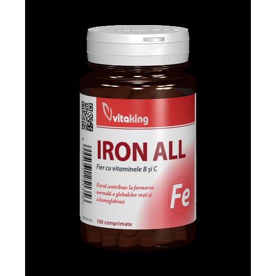 Iron All, 100 tablete, Vitaking