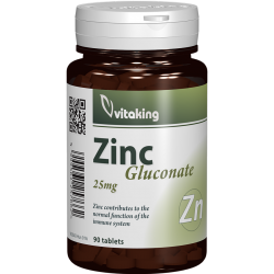 Zinc Gluconate 30 mg, 90 tablete, Vitaking