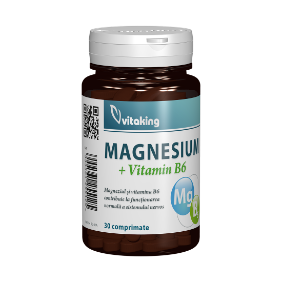 Magnesium + B6, 30 tablete, Vitaking