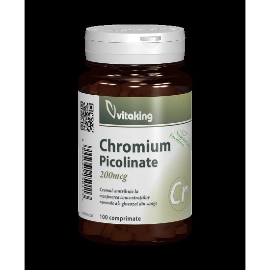 Chromium Picolinate, 100 tablete, Vitaking