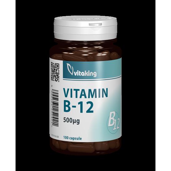 Vitamin B-12 500 mcg, 100 capsule, Vitaking