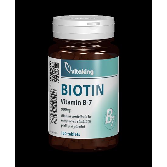 Biotina (Vitamina B7), 100 tablete, Vitaking