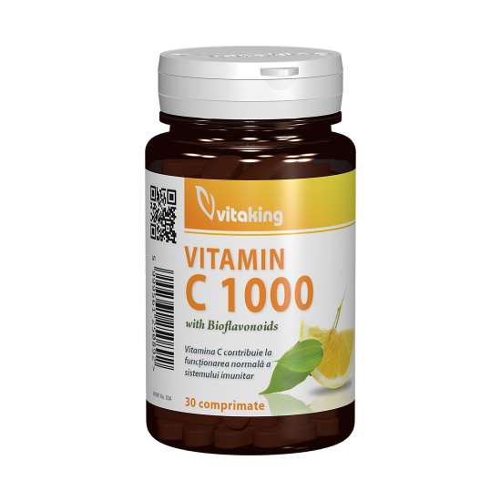 Vitamin C-1000 mg, 30 tablete, Vitaking