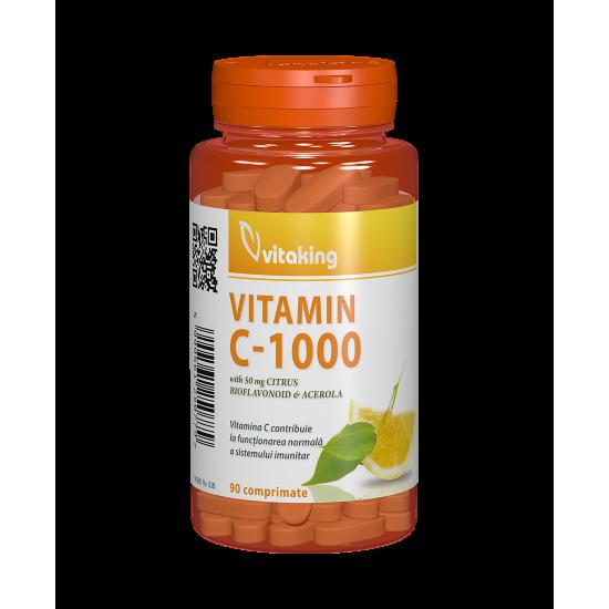 Vitamin C-1000 mg, 90 tablete, Vitaking