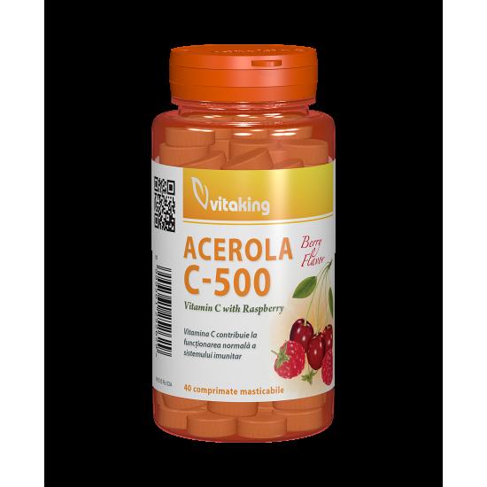 Acerola C-500, 40 capsule, Vitaking