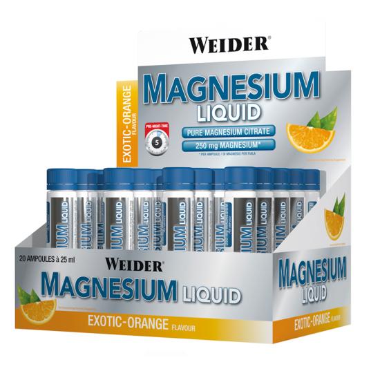 Magnesium Liquid, 20 fiole, Weider