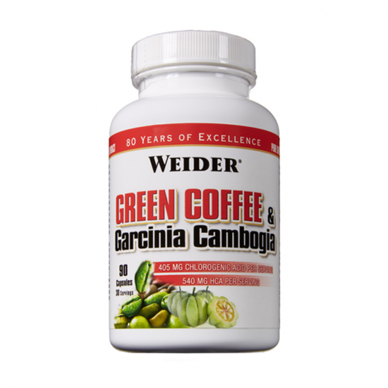 Green Coffee + Garcinia, 90 cps, Weider